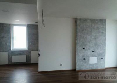 Obývací pokoj – MARMO ANTICO s VELATURE